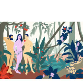 Gerahmtes Poster z.B. Adam, Adam and Eve ab
