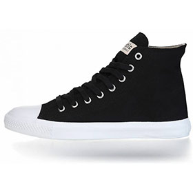 FAIR TRAINER WHITE CAP HI CUT COLLECTION 18 JET BLACK | JUST WHITE