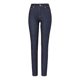 Womens high rise slim jeans – raw one wash
