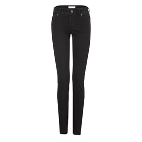 Womens slim jeans – black one wash