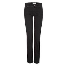 Womens straight jeans – black one wash