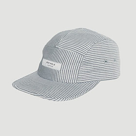 Striped 5-Panel Cap Schwarz/Weiß