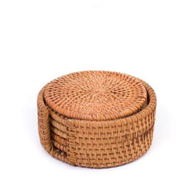 Rattan Untersetzer-Set May