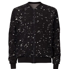 TT42 Reversible Jacket Man marble black/ash
