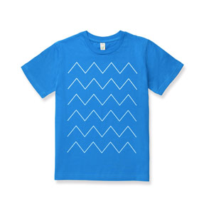 Thin ZigZag Kinder T-Shirt white/french blue