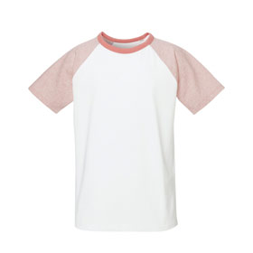 Raglan T-Shirt Kinder White/CHP/Flamingo Pink