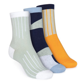 3er Pack Mid-Top Socken Colour Grading/Geometric/Vertical