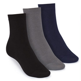 3er Pack Mid-Top Socken Man Black/Graphite/Midnight