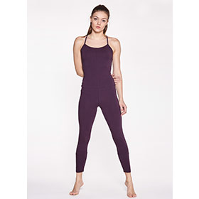 Yoga Jumpsuit Cross – BURGUNDY