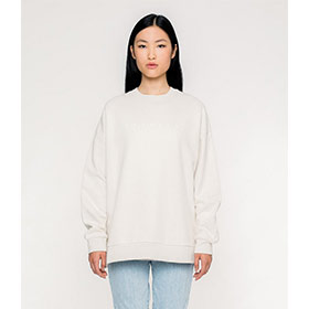 Logo Side Slit Sweater Cream
