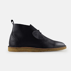 Max Herre Black Leather Crepe Sole