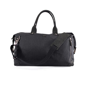 Weekend Bag Leder & Canvas Schwarz