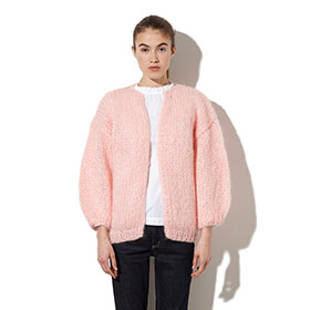 Mohair Big Cardigan