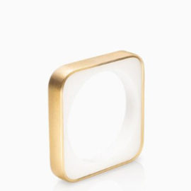Frames Ring Square Slim Fairtrade Gold