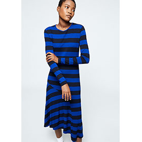 JAASMIN STRIPE MIX Kleid aus LENZING™ EcoVero™ Mix