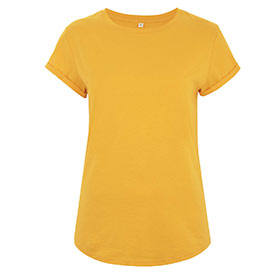 Organic Rolled Sleeve T-Shirt gold
