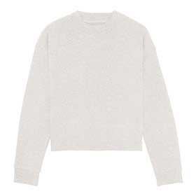 Kurzes Sweatshirt aus Bio-Baumwolle – cream heather grey
