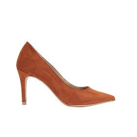 Pointed Toe Pumps Mid Burnt Orange