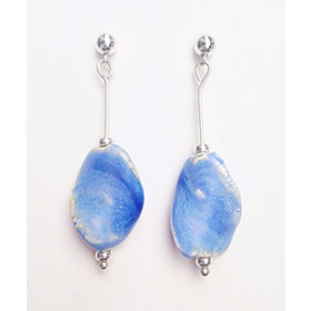 Marina blue silver earrings