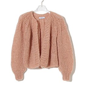 ! AUSVERKAUFT ! Short Pleated Cardigan caramel