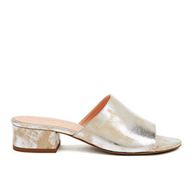 Mule Slides #maia silver lining