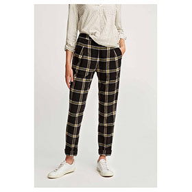 Miriam Checked Trousers, Black