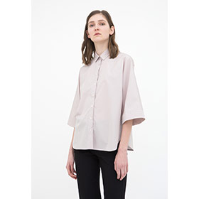 ! AUSVERKAUFT ! Tea Blouse Light Pink Poplin