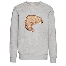 croissant embroidery print