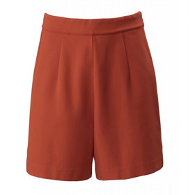 The Skirt Short, rot
